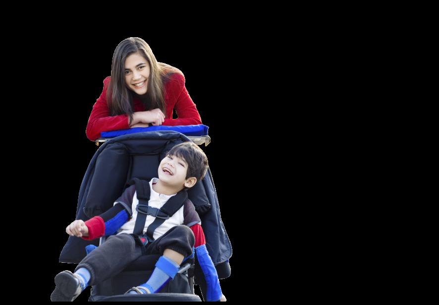 A caregiver accompanying a child